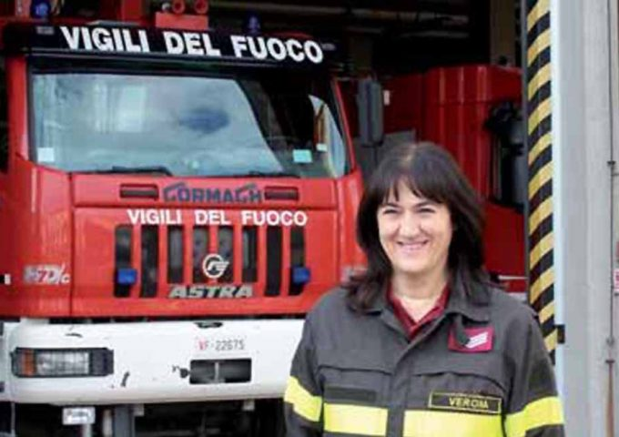 prima donna vigile del fuoco