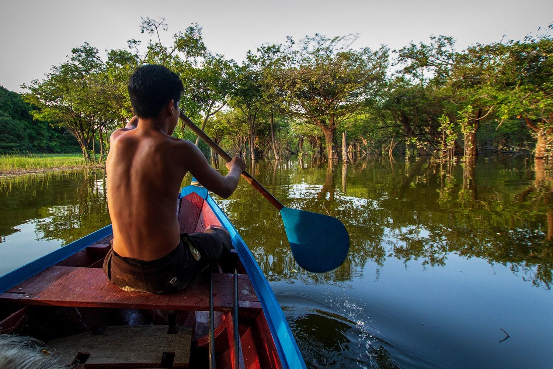 Un indigeno dell'Amazzonia