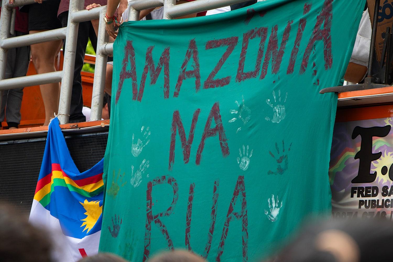 Proteste contro la distruzione e gli incendi in Amazzonia