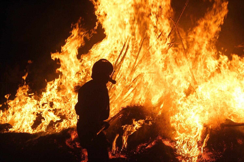 I pompieri parigini in azione