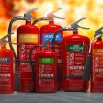 Diverse tipologie di estintore antincendio